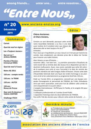 Bulletin Entre-Nous n°20 - Décembre 2011