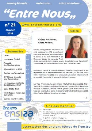 Bulletin Entre-Nous n°21 - Janvier 2014