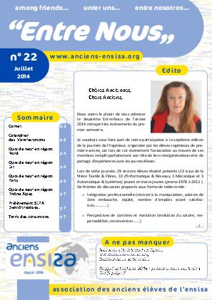 Bulletin Entre-Nous n°21 - Juillet 2014